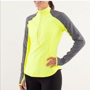 Lululemon U-Turn Run Pullover in Clarity Yellow